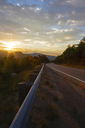 Sunrise along the Kancamagus Highway (route 112), which is one of New England's scenic byways located in the White Mountains, New Hampshire USA