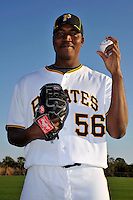 Feb 28, 2010; Bradenton, FL, USA; Pittsburgh Pirates  pitcher Donnie Veal (56) during  photoday at Pirate City. Mandatory Credit: Tomasso De Rosa/ Four Seam Images