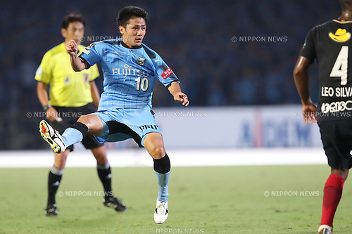 Ryota Oshima (Frontale),<br /> AUGUST 13, 2017 - Football / Soccer :<br /> 2017 J1 League match between Kawasaki Frontale 3-1 Kashima Antlers at Todoroki Stadium in Kanagawa, Japan. (Photo by AFLO)