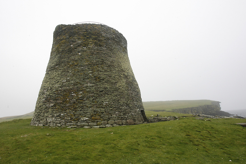The only complete broch in the world is on the   uninhabited island of Mousa, off the southeast coast of the main island of the Shetlands, Tuesday, Sept. 11, 2007. The round tower which was likely a fort as well as a residence, is 2,00 to 2,500 years old. Photo by Charles Osgood