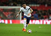 27th March 2018, Wembley Stadium, London, England; International Football Friendly, England versus Italy; Kyle Walker of England drives forward on the ball