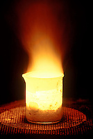 SODIUM BURNS IN AIR<br />