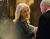 Trump campaign manager Kellyanne Conway is seen in the lobby of Trump Tower in New York, NY, USA on December 15, 2016.<br /> Credit: Albin Lohr-Jones / Pool via CNP