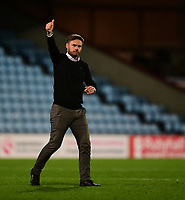 Scunthorpe United manager Graham Alexander acknowledges the fans at the final whistle<br /> <br /> Photographer Chris Vaughan/CameraSport<br /> <br /> The EFL Sky Bet League One - Scunthorpe United v Bristol Rovers - Saturday 11th November 2017 - Glanford Park - Scunthorpe<br /> <br /> World Copyright &copy; 2017 CameraSport. All rights reserved. 43 Linden Ave. Countesthorpe. Leicester. England. LE8 5PG - Tel: +44 (0) 116 277 4147 - admin@camerasport.com - www.camerasport.com