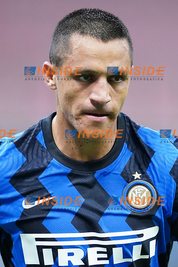 Alexis Sanchez of FC Internazionale during the Serie A football match between FC Internazionale and SSC Napoli at San Siro stadium in Milano (Italy), July 28th, 2020. Play resumes behind closed doors following the outbreak of the coronavirus disease. Photo Marco Canoniero / Insidefoto