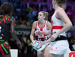 Fast5 2017<br /> Fast 5 Netball World Series<br /> Hisense Arena Melbourne<br /> Match <br /> England v Malawi<br /> <br /> Jo Harten<br /> <br /> <br /> Photo: Grant Treeby