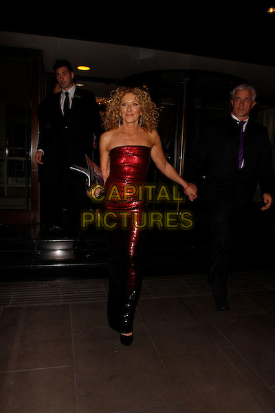 LONDON, ENGLAND - SEPTEMBER 28 :  Kelly Hoppen and John Gardiner leave The Pride Of Britain Awards 2015, at the Grosvenor House Hotel on September 28, 2015 in London, England.<br /> CAP/AH<br /> &copy;Adam Houghton/Capital Pictures