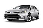 Stock pictures of low aggressive front three quarter view of a 2017 Toyota Avalon Limited Hybrid 4 Door Sedan