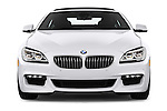 Car photography straight front view of a 2016 BMW 6 Series 640i Gran Coupe 4 Door Sedan Front View