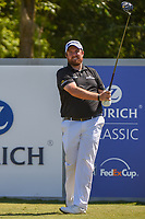 Shane Lowry (IRL) watches his tee shot on 18 during Round 1 of the Zurich Classic of New Orl, TPC Louisiana, Avondale, Louisiana, USA. 4/26/2018.<br /> Picture: Golffile | Ken Murray<br /> <br /> <br /> All photo usage must carry mandatory copyright credit (&copy; Golffile | Ken Murray)