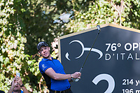 Danny Willett (ENG) in action on the 2nd hole during the second round of the 76 Open D'Italia, Olgiata Golf Club, Rome, Rome, Italy. 11/10/19.<br /> Picture Stefano Di Maria / Golffile.ie<br /> <br /> All photo usage must carry mandatory copyright credit (© Golffile | Stefano Di Maria)