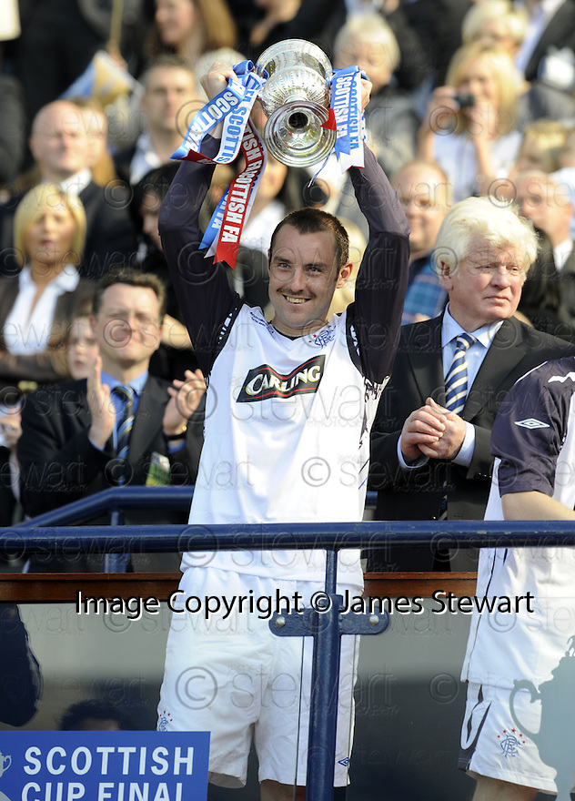 24/05/2008   Copyright Pic: James Stewart.File Name : sct_jspa25_qots_v_rangers.GOAL SCORER KRIS BOYD GETS HIS HANDS ON THE SCOTTISH CUP.James Stewart Photo Agency 19 Carronlea Drive, Falkirk. FK2 8DN      Vat Reg No. 607 6932 25.Studio      : +44 (0)1324 611191 .Mobile      : +44 (0)7721 416997.E-mail  :  jim@jspa.co.uk.If you require further information then contact Jim Stewart on any of the numbers above........