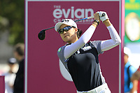 Minjee Lee (AUS) tees off the 6th tee during Thursday's Round 1 of The Evian Championship 2018, held at the Evian Resort Golf Club, Evian-les-Bains, France. 13th September 2018.<br /> Picture: Eoin Clarke | Golffile<br /> <br /> <br /> All photos usage must carry mandatory copyright credit (&copy; Golffile | Eoin Clarke)