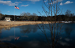 WOODBURY,  CT-031219JS09- Town officials are looking into changes to the pond at Hollow Park in Woodbury. They are considering putting in grass where the beach is located and make it a picnic area. <br /> Jim Shannon Republican American