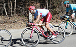 Daniel Navarro (ESP) Team Katusha Alpecin descends during Stage 4 of the Volta Ciclista a Catalunya 2019 running 150.3km from Llanars (Vall De Camprodon) to La Molina (Alp), Spain. 28th March 2019.<br /> Picture: Colin Flockton | Cyclefile<br /> <br /> <br /> All photos usage must carry mandatory copyright credit (© Cyclefile | Colin Flockton)