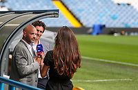 Former Leeds United defender Danny Mills speaks to camera during a recording by Sky Sports<br /> <br /> Photographer Alex Dodd/CameraSport<br /> <br /> The EFL Sky Bet Championship - Leeds United v Nottingham Forest - Saturday 10th August 2019 - Elland Road - Leeds<br /> <br /> World Copyright © 2019 CameraSport. All rights reserved. 43 Linden Ave. Countesthorpe. Leicester. England. LE8 5PG - Tel: +44 (0) 116 277 4147 - admin@camerasport.com - www.camerasport.com
