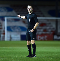 Referee Sam Kane<br /> <br /> Photographer Andrew Vaughan/CameraSport<br /> <br /> The FA Youth Cup Second Round - Lincoln City U18 v South Shields U18 - Tuesday 13th November 2018 - Sincil Bank - Lincoln<br />  <br /> World Copyright © 2018 CameraSport. All rights reserved. 43 Linden Ave. Countesthorpe. Leicester. England. LE8 5PG - Tel: +44 (0) 116 277 4147 - admin@camerasport.com - www.camerasport.com