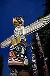 Totem pole park in Stanley Park  Vancouver British Columbia Canada