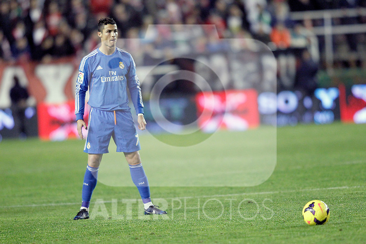 Real Madrid's Cristiano Ronaldo during La Liga match.November 22,2013. (ALTERPHOTOS/Acero)