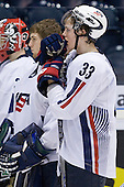 Colin Wilson (USA - 33) - Team Russia defeated Team USA 4-2 on Saturday, January 5, 2008, at CEZ Arena in Pardubice, Czech Republic, to win the bronze at the 2008 World Juniors Championship.