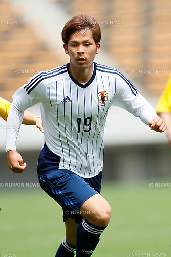 Tomoki Iwata (JPN), <br /> APRIL 18, 2017 - Football / Soccer : <br /> U-20 Japan National team training match <br /> between U-20 - JEF United Chiba <br /> in Chiba, Japan. <br /> (Photo by Yohei Osada/AFLO SPORT)