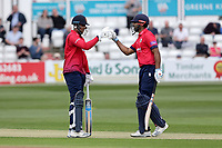 Rishi Patel (L) and Varun Chopra enjoy a useful partnership for Essex during Essex Eagles vs Gloucestershire, Royal London One-Day Cup Cricket at The Cloudfm County Ground on 7th May 2019