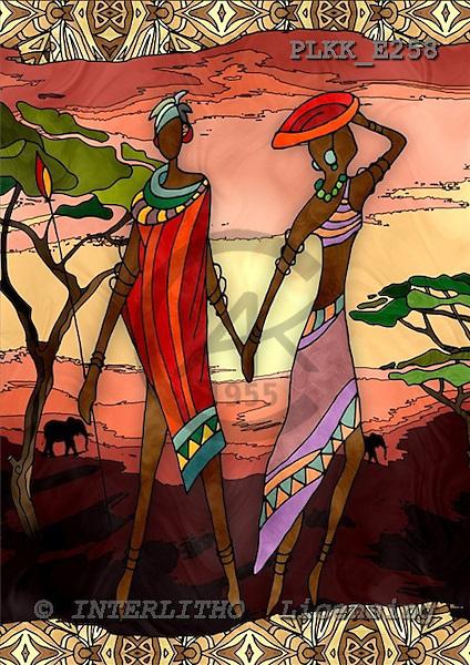 Kris, MODERN, ethnical, paintings, PLKKE258,#n# étnico, illustrations, pinturas