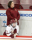 Courtney Kennedy (BC - Associate Head Coach), Grace Bizal (BC - 2) - The Boston College Eagles defeated the visiting University of Maine Black Bears 2-1 on Saturday, October 8, 2016, at Kelley Rink in Conte Forum in Chestnut Hill, Massachusetts.  The University of North Dakota Fighting Hawks celebrate their 2016 D1 national championship win on Saturday, April 9, 2016, at Amalie Arena in Tampa, Florida.