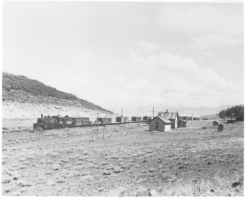 K-27 #461 with work train.<br /> RGS  Dallas Divide, CO