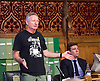 Orgreave campaigners hold Westminster rally before Home Secretary meeting<br /> 13th September 2016, Labour leader Jeremy Corbyn, Shadow Home Secretary Andy Burnham and other MPs join the Orgreave Truth and Justice Campaign <br /> Westminster, London, Great Britain <br /> <br /> <br />  Kevin Horn, who was a miner at Orgreave <br /> <br /> followed by an open meeting of campaigners and politicians ahead of a private meeting with Home Secretary Amber Rudd on the campaign&rsquo;s call for a public inquiry. <br /> <br /> Andy Burnham MP with <br /> Hillsborough campaigner Margaret Aspinall on his left <br /> <br /> <br /> Photograph by Elliott Franks <br /> Image licensed to Elliott Franks Photography Services