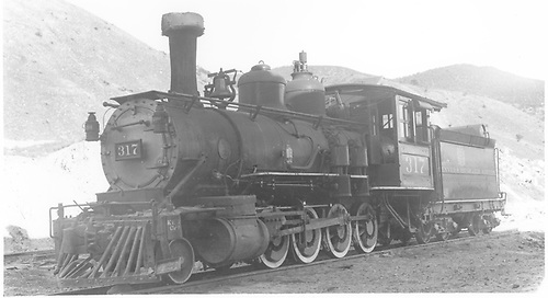 3/4 fireman's-side view of D&amp;RGW #317 in Salida.<br /> D&amp;RGW  Salida, CO  Taken by Best, Gerald M. - 9/20/1936