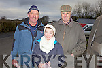Pat Maddigan from Glin, Molly Cremin from Shanangarry and Michael Foley from Glin pictured at the annual coursing meet last Saturday in Newcastlewest.