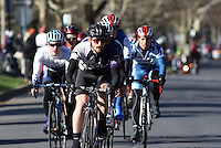 The start of the Men's D1 of the Penn State Frat Row Criterium of the Eastern Collegiate Cycling Conference Championships on April 26, 2015. Photo'© 2015 Craig Houtz