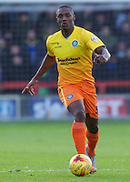 Anthony Stewart of Wycombe Wanderers during the Sky Bet League 2 match between AFC Wimbledon and Wycombe Wanderers at the Cherry Red Records Stadium, Kingston, England on 21 November 2015. Photo by Alan  Stanford/PRiME.