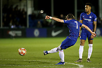 Conor Gallagher scores Chelsea's third goal during Chelsea Under-19 vs AS Monaco Under-19, UEFA Youth League Football at the Cobham Training Ground on 19th February 2019