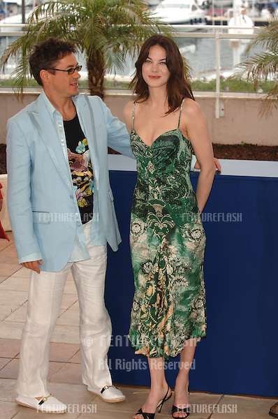 Actor ROBERT DOWNEY JR & actress MICHELLE MONAGHAN at the 58th Annual Film Festival de Cannes where they are promoting their new movie Kiss Kiss, Bang Bang which is in official competition..May 14, 2005 Cannes, France..© 2005 Paul Smith / Featureflash