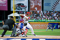 7 March 2009:  #18 Geovany Soto of Puerto Rico is seen at bat during the 2009 World Baseball Classic Pool D match at Hiram Bithorn Stadium in San Juan, Puerto Rico. Puerto Rico wins 7-0 over Panama.
