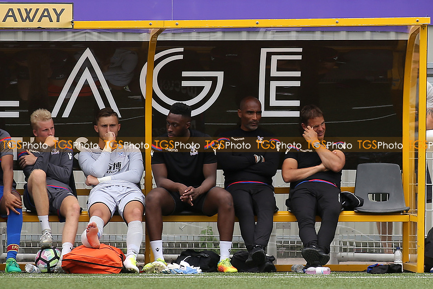 Crystal Palace Manager, Frank De Boer watches the match alongside his Assistant, Orlando Trustfull during Maidstone United vs Crystal Palace, Friendly Match Football at the Gallagher Stadium on 15th July 2017