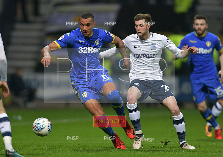 10/04/2018 Sky Bet League Championship Preston North End v Leeds United<br /> <br /> Jay-Roy Grot, Leeds United FC