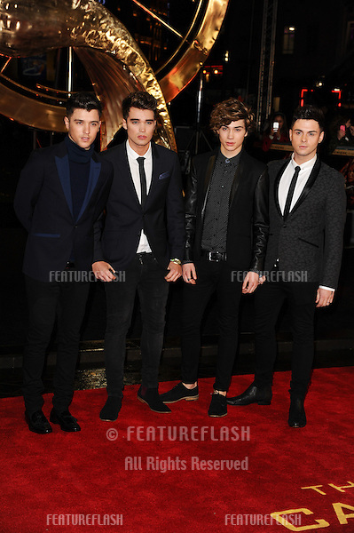 "Union J arriving for the World Premiere of ""The Hunger Games: Catching Fire"" in Leicester Square, London. 11/11/2013 Picture by: Steve Vas / Featureflash"