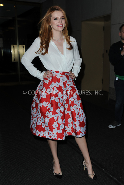 WWW.ACEPIXS.COM<br /> December 16, 2015 New York City<br /> <br /> Bella Thorne leaving NBC in Rockefeller Plaza on December 16, 2015 in New York City.<br /> <br /> Credit: Kristin Callahan/ACE Pictures<br /> <br /> Tel: (646) 769 0430<br /> e-mail: info@acepixs.com<br /> web: http://www.acepixs.com