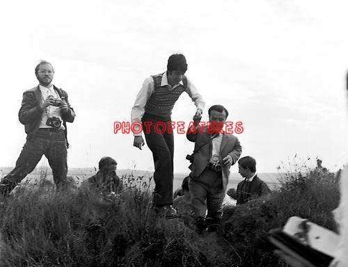 Beatles 1967 Paul McCartney films Magical Mystery Tour on Devon moors. <br /> &copy; Chris Walter