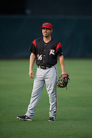 Richmond Flying Squirrels Peter Maris (56) during warmups before an Eastern League game against the Bowie Baysox on August 15, 2019 at Prince George's Stadium in Bowie, Maryland.  Bowie defeated Richmond 4-3.  (Mike Janes/Four Seam Images)