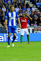 Tuesday, 7 May 2013<br /> <br /> Pictured: James McArthur Wigan Athletic and Wayne Routledge of Swansea City<br /> <br /> Re: Barclays Premier League Wigan Athletic v Swansea City FC  at the DW Stadium, Wigan