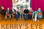 Beaufort Rambling House- Christmas Session. Pictured are l-r Paddy O'Shea, John O'Sullivan, Killian O'Connor, Grainne Prendergast, Seamus Cahil, Richard Casey, Clodagh O'Mahony and Brigit O'Carroll inn the Beaufort Community Centre last Saturday night.