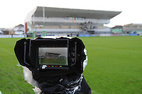 14th December 2013; General view of a television camera showing the main stand at the Sportsground ahead of the match. Heineken Cup Pool 3, round 4, Connacht v Toulouse, The Sportsground, Galway. Picture credit: Tommy Grealy/actionshots.ie.