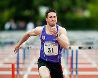 17 MAY 2009 - LOUGHBOROUGH,GBR - Dave Feeny - Mens 110m Hurdles A Invitation - Loughborough International Athletics .(PHOTO (C) NIGEL FARROW)