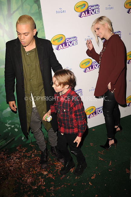 WWW.ACEPIXS.COM<br /> February 05, 2015 New York City<br /> <br /> Ashlee Simpson Ross, Bronx Mowgli Wentz and Evan Ross attending 'Color Alive' Launch Event at Open House Gallery on February 05, 2015 in New York City.<br /> <br /> Please byline: Kristin Callahan/AcePictures<br /> <br /> ACEPIXS.COM<br /> <br /> Tel: (646) 769 0430<br /> e-mail: info@acepixs.com<br /> web: http://www.acepixs.com