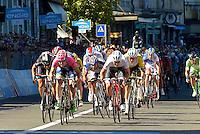 Picture by Pier Maulini/SWpix.com 27/05/2015 Cycling - Giro d'Italia - 27/05/2015 - Stage Seventeen - Tirano - Lugano ( Switzerland )<br /> copyright picture - Simon Wilkinson - simon@swpix.com<br /> Sacha Modolo win the stage, Giacomo Nizzolo is second