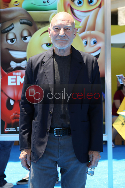 "Patrick Stewart<br /> at the premiere of ""The Emoji Movie,"" Village Theater, Westwood, CA 07-23-17<br /> David Edwards/DailyCeleb.com 818-249-4998"
